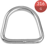 D-ring 6 x 40 mm, RVS316