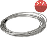 100 meter kabel 5.0 mm, RVS316