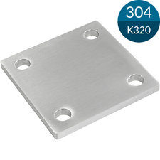 Ankerplaat Vierkant 100 x 100 x 6 mm, RVS