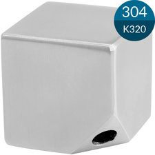 Kubus 40 x 40 mm met M8, Massief, RVS