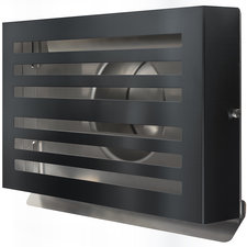 BETA ventilatierooster 180 mm, Zwart RVS