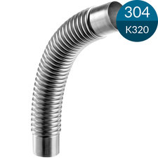 Flex Connect 48.3 x 2.0 mm, Lengte 214.5 mm, RVS (Op=op)