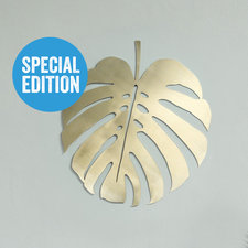 Monstera blad wanddecoratie, Goud