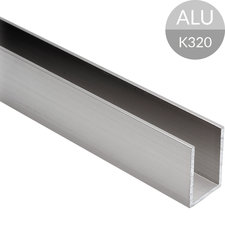 U-profiel 30 x 20 x 30 mm, RVS Look Aluminium, 2500 mm