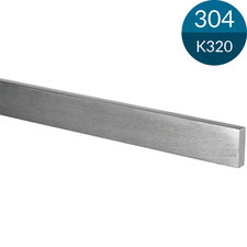 Strip 50 x 5 mm, RVS304, K320 geslepen, 1000 mm