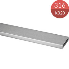 Koker 40 x 10 x 1.5 mm, RVS316, K320 geslepen, 2500 mm