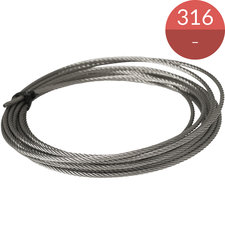 Kabel 6.0 mm, RVS316