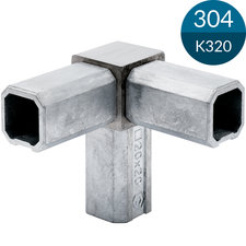 3-sprong 20 x 20 x 1.5 mm, RVS