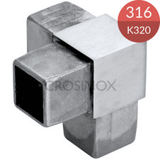 3-sprong 30 x 30 x 2.0 mm, RVS316