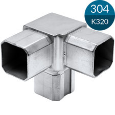 3-sprong 35 x 35 x 1.5 mm, RVS