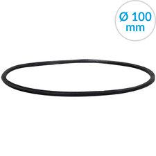 Afsluitring voor bolroosters, 100 mm, Rubber