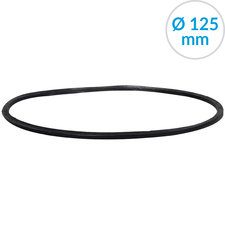 Afsluitring voor bolroosters, 125 mm, Rubber