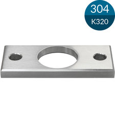 Ankerplaat Buis 42.4 mm, 120 x 50 mm, RVS