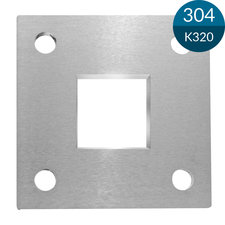Ankerplaat Koker 40 x 40 mm, 92 x 92 x 8 mm, RVS