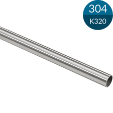 Buis 16.0 x 1.0 mm, RVS304, K320 geslepen, 2500 mm