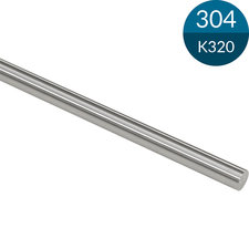 Staf 14 mm, RVS304, K320 geslepen, 2500 mm (Op=op)