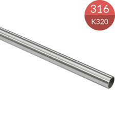 Buis 16.0 x 1.0 mm, RVS316, K320 geslepen, 2500 mm