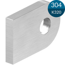 Laslip 30 x 20 x 4 mm met gat 7 mm, RVS