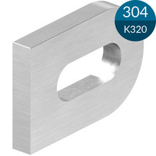 Laslip 30 x 20 x 4 mm met slobgat 17 x 7 mm, RVS
