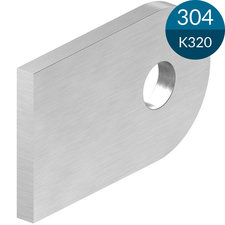 Laslip 50 x 30 x 4 mm met gat 9 mm, RVS