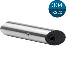 Buissteun 38.1 mm, 45 gr, RVS