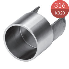Adapter voor glasframebuis 42.4 x 1.5 mm, RVS316