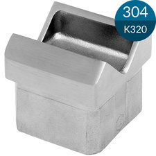 Adapter 35 x 35 x 1.5 mm, 45 gr, RVS